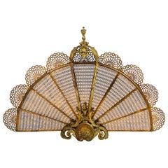 Louis XVI Style Ormolu Fan Firescreen, circa 1900