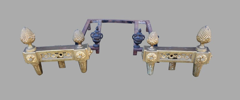 French Louis XVI Style Ormolu Fireplace Insert For Sale