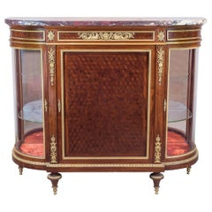 Louis XVI Style Ormolu Mounted Parquetry Meuble d'Appui Cabinet by Paul Sormani