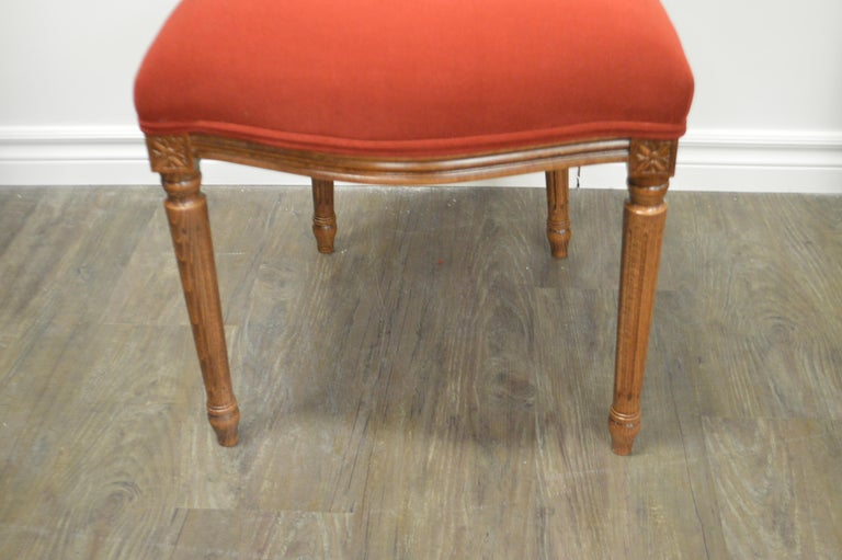 Louis XVI Style Oval Back Dining Chair, Washable Velvet Fabric for Custom Order In New Condition For Sale In Oakville, ON
