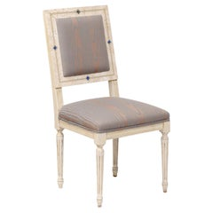 Louis XVI Style Paint Decorated Side Chairs