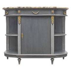 Louis XVI Style Painted Demilune Buffet