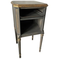 Louis XVI Style Painted Metal Nightstand