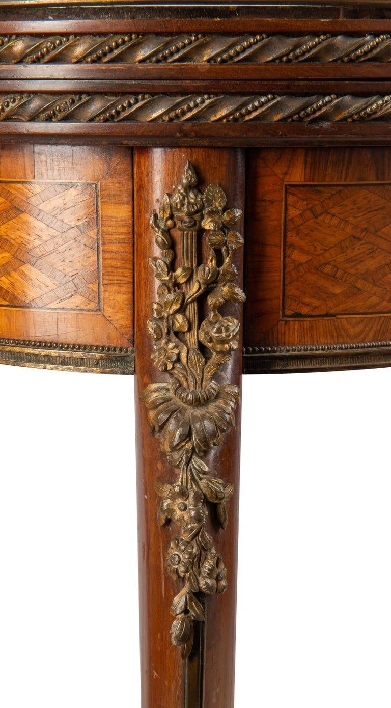 Louis XVI Style Parquetry Inlaid Card Table, circa 1890 Linke Style In Good Condition For Sale In Brighton, Sussex