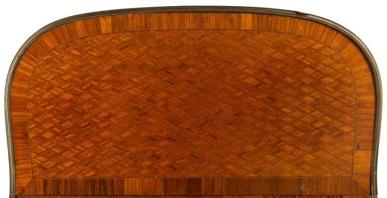 Louis XVI Style Parquetry Inlaid Card Table, circa 1890 Linke Style For Sale 1