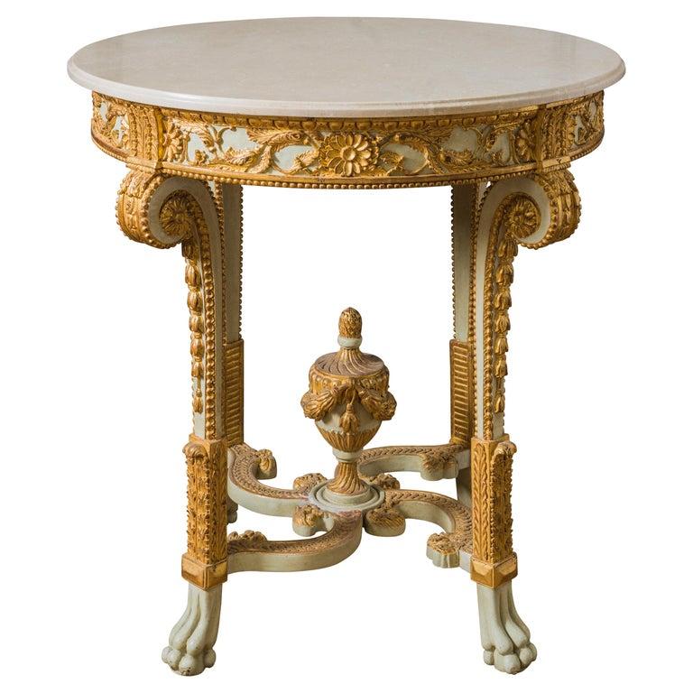 Louis XVI Style Polychrome Console Table Reproduced by La Maison London For Sale