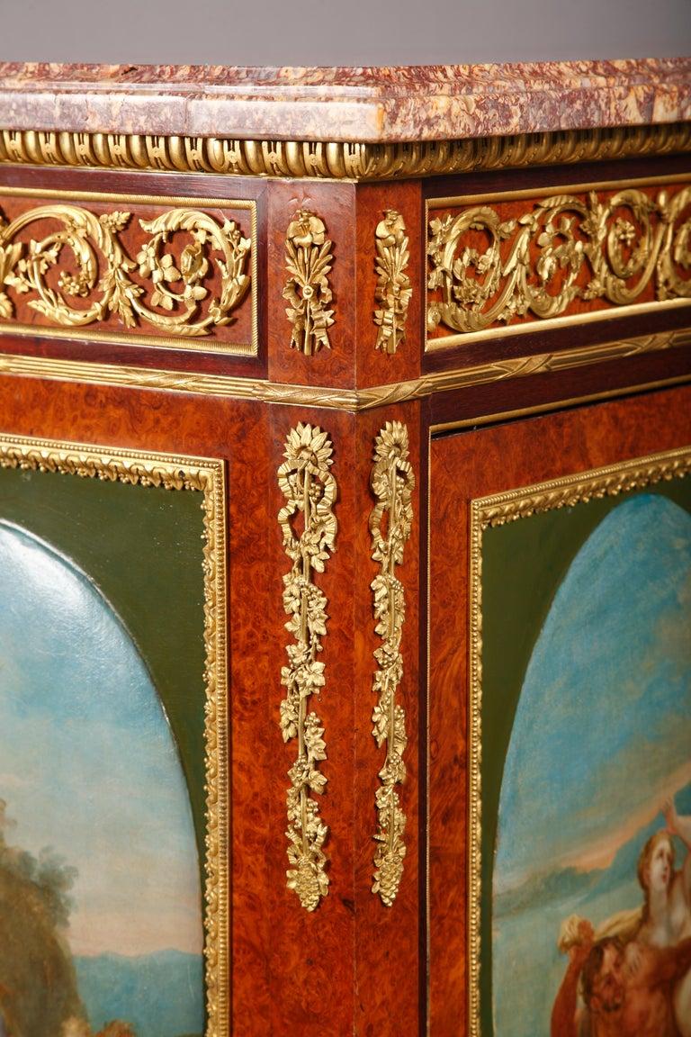 Gilt Louis XVI Style Secretary by H. Dasson For Sale