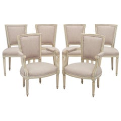 Louis XVI Style Set of Chairs with Armchairs