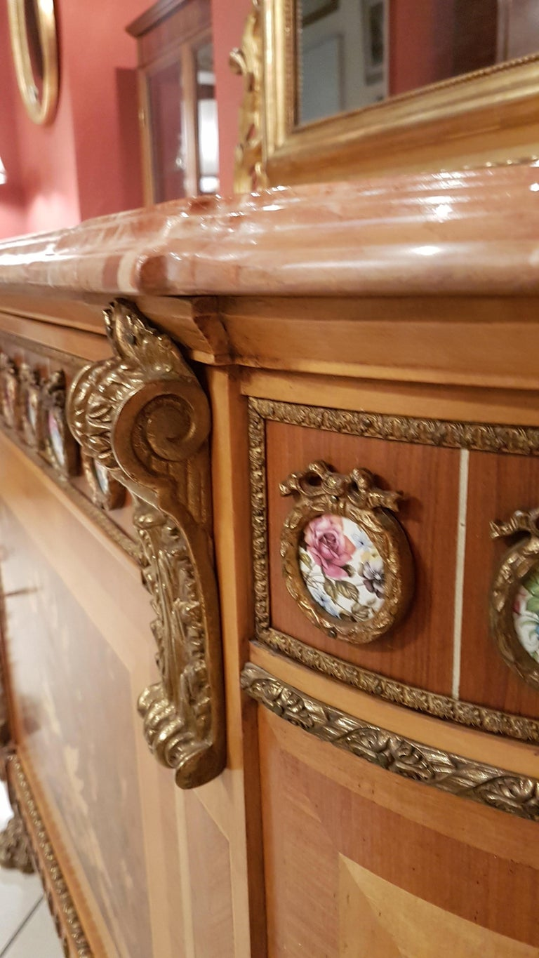Louis XVI Style Sideboard with Marble Top For Sale 4