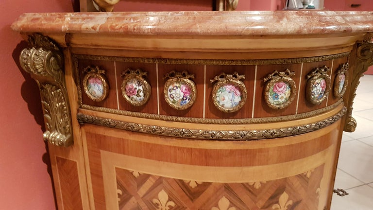 Louis XVI Style Sideboard with Marble Top For Sale 9