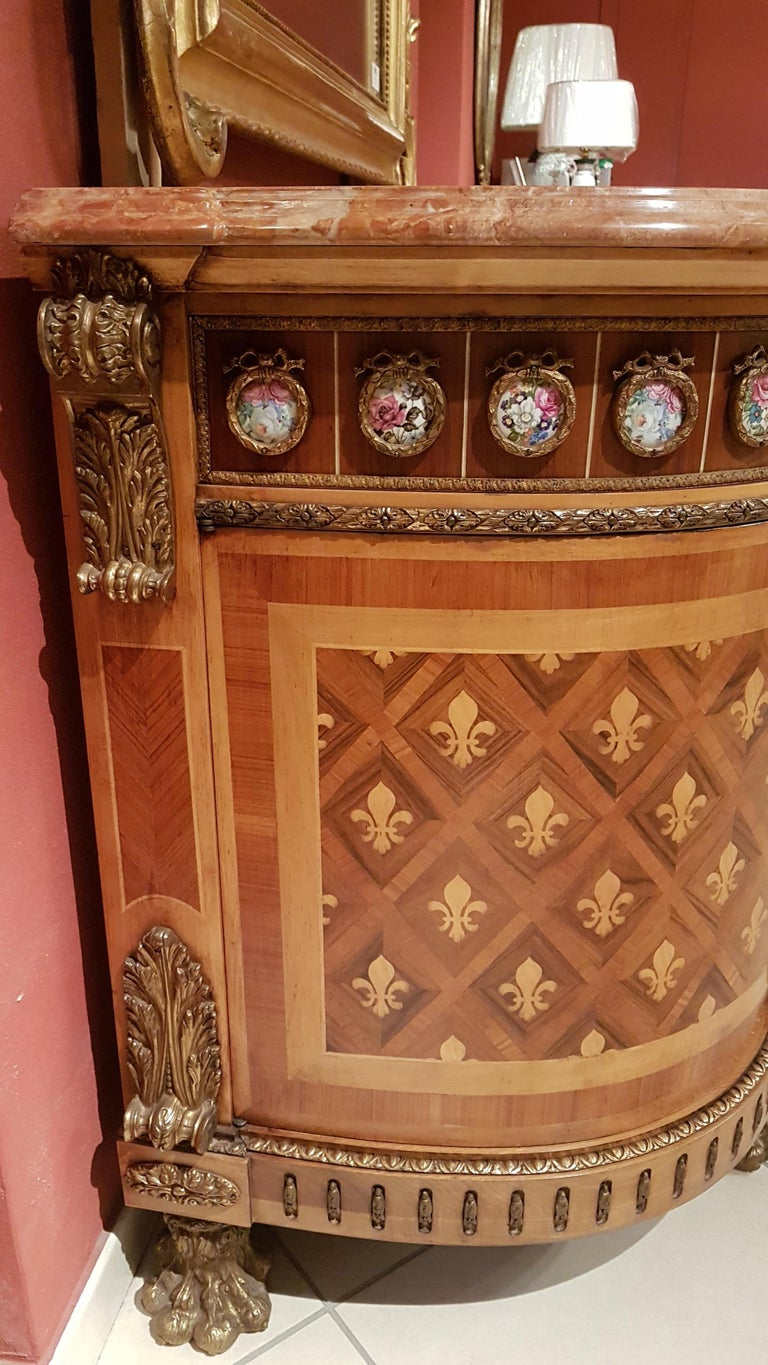 Louis XVI Style Sideboard with Marble Top For Sale 10