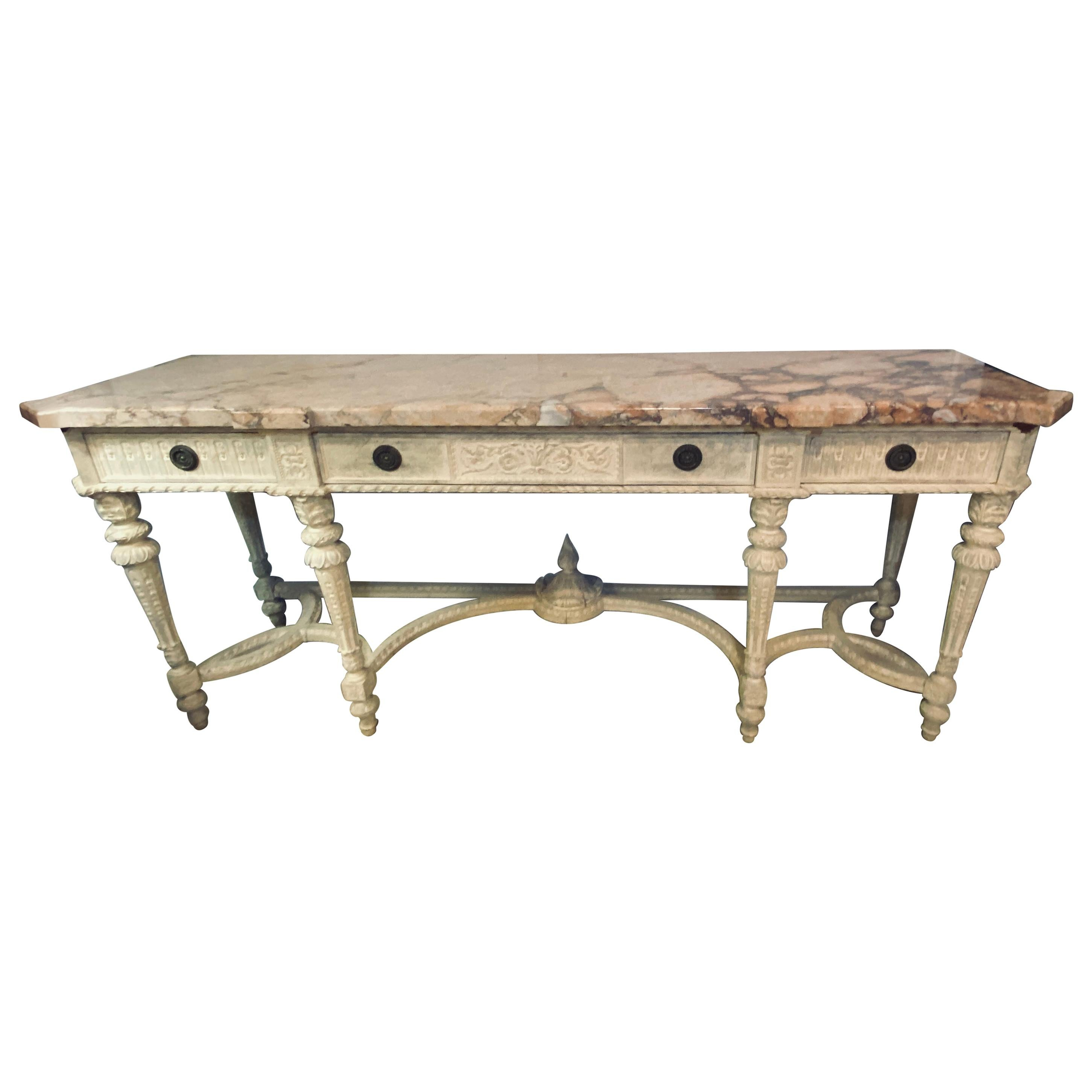 Louis XVI Style Swedish Painted Sideboard, Console or Serving Table