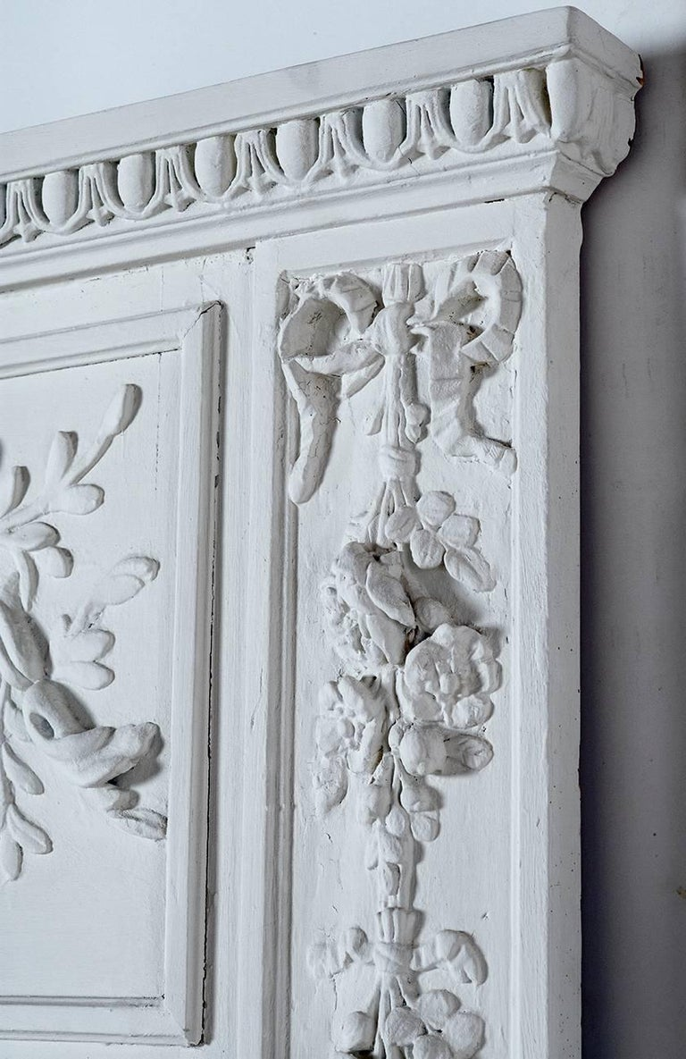 French Provincial Louis XVI Style Trumeau Original from Paris For Sale