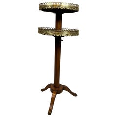 Louis XVI Style Tulipwood Adjustable Candlestand