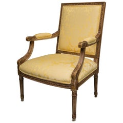Louis XVI Style Upholstered Armchair