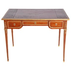 Louis XVI Style Writing Table with Red Leather Writing Surface