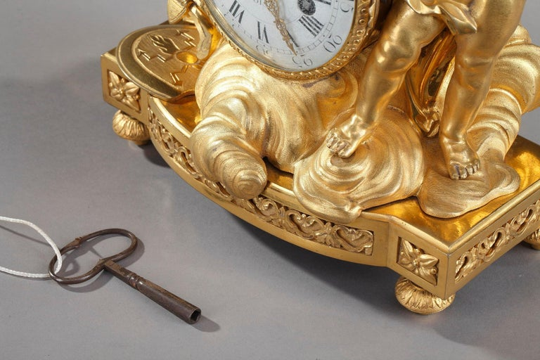 Louis XVI Table Clock Honoring Henri IV by Henri Voisin For Sale 4