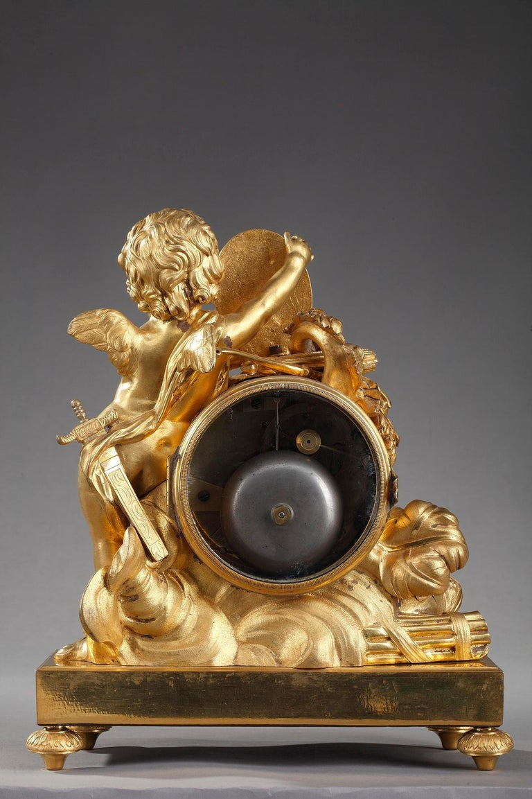 Louis XVI Table Clock Honoring Henri IV by Henri Voisin For Sale 5