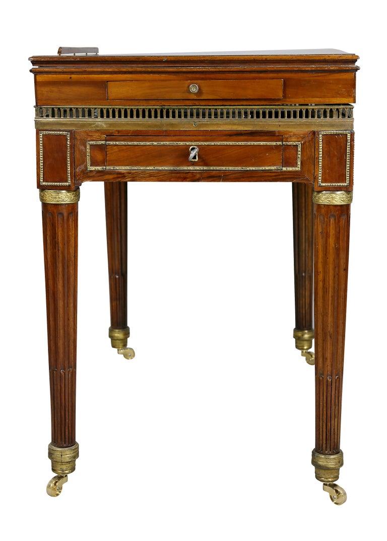 Louis XVI Walnut Architects Table a La Tronchin 6