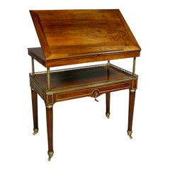 Louis XVI Walnut Architects Table a La Tronchin