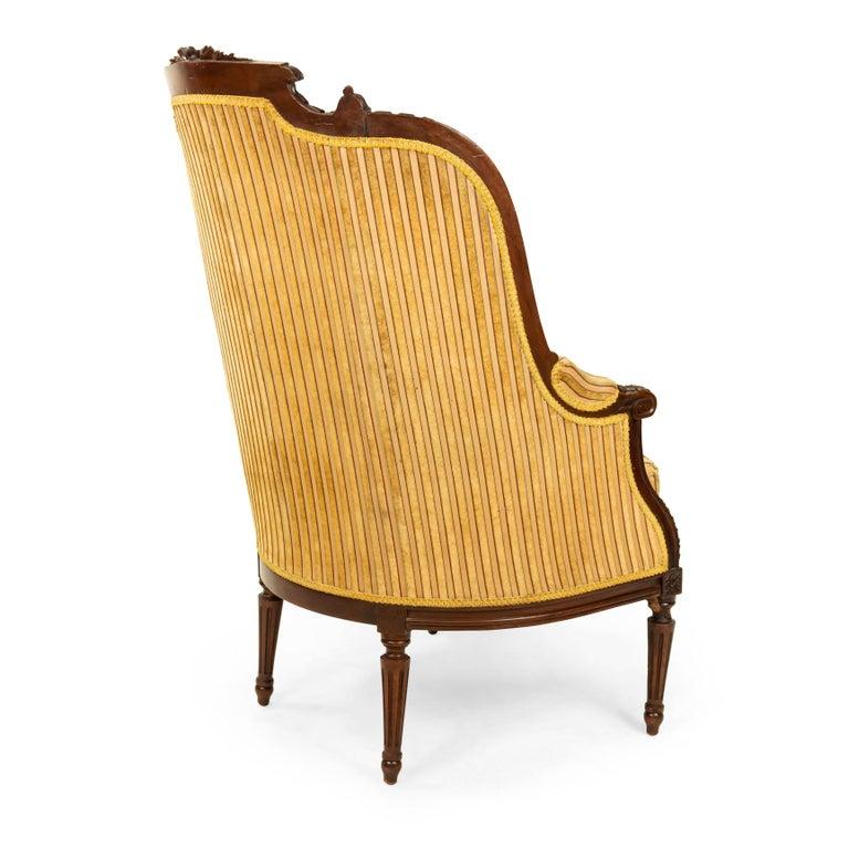 Louis XVI Walnut Bergère Armchairs For Sale 4