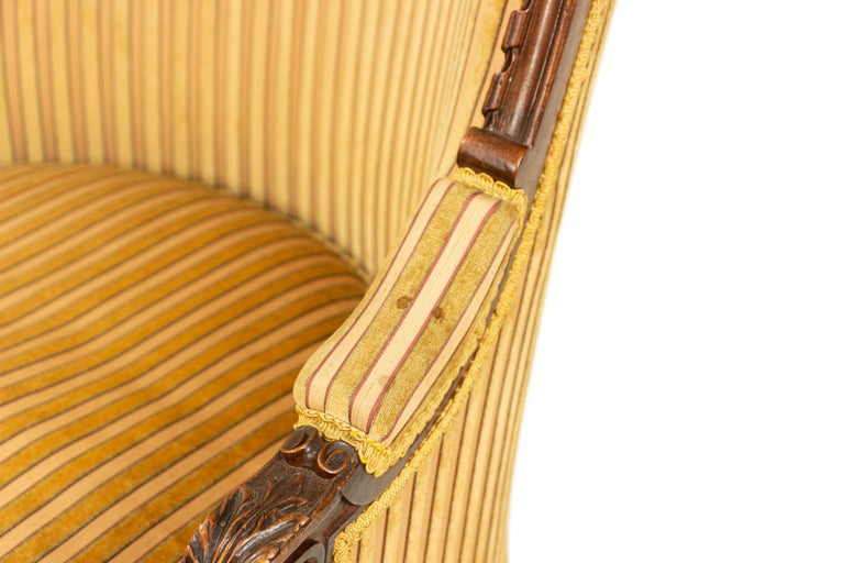 Louis XVI Walnut Bergère Armchairs For Sale 5