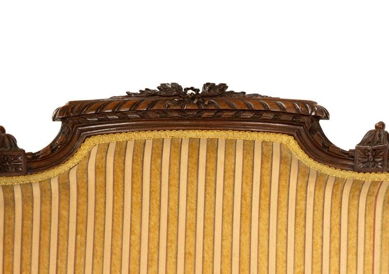 Louis XVI Walnut Bergère Armchairs For Sale 6