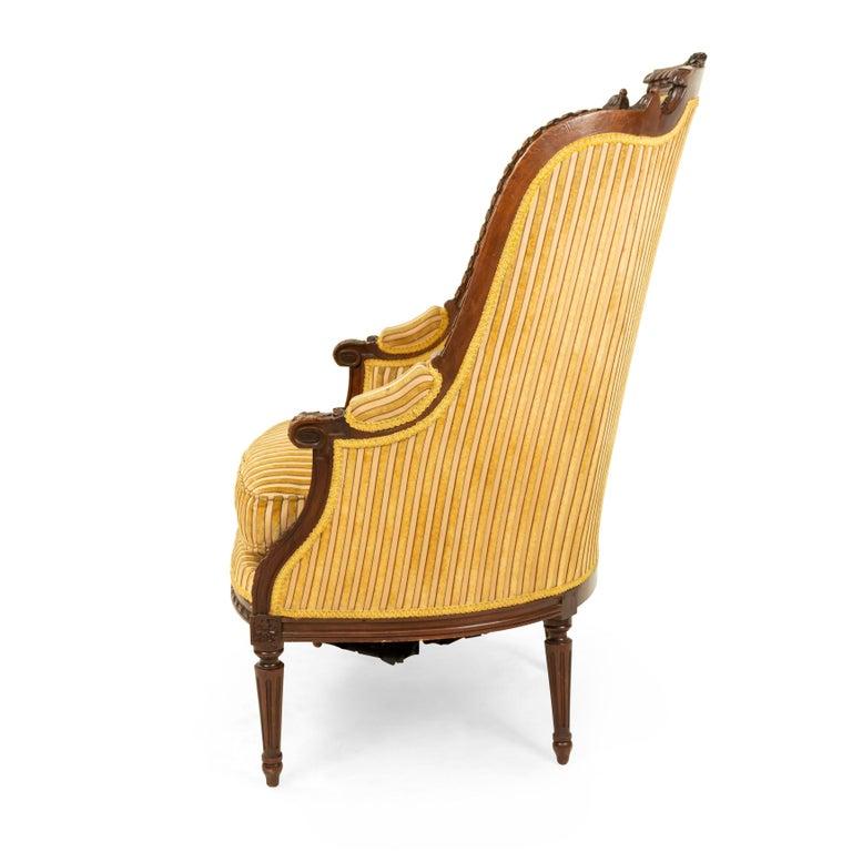 Louis XVI Walnut Bergère Armchairs For Sale 1