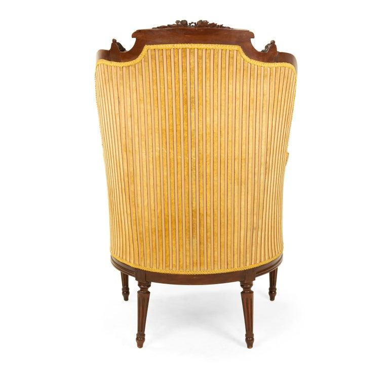 Louis XVI Walnut Bergère Armchairs For Sale 3