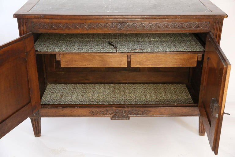Louis XVI Walnut Buffet For Sale 2