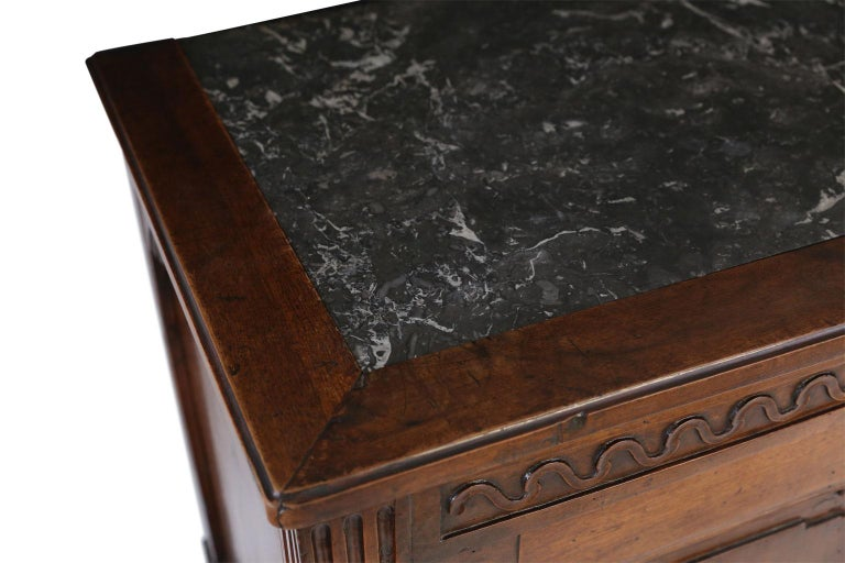 Hand-Carved Louis XVI Walnut Buffet For Sale
