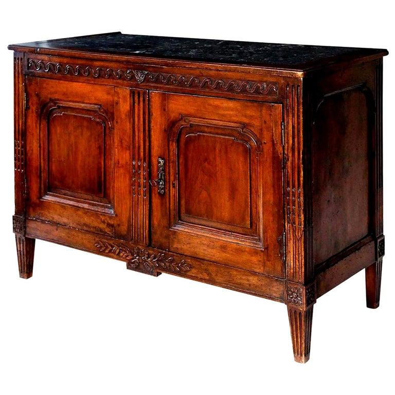 Louis XVI Walnut Buffet For Sale 13