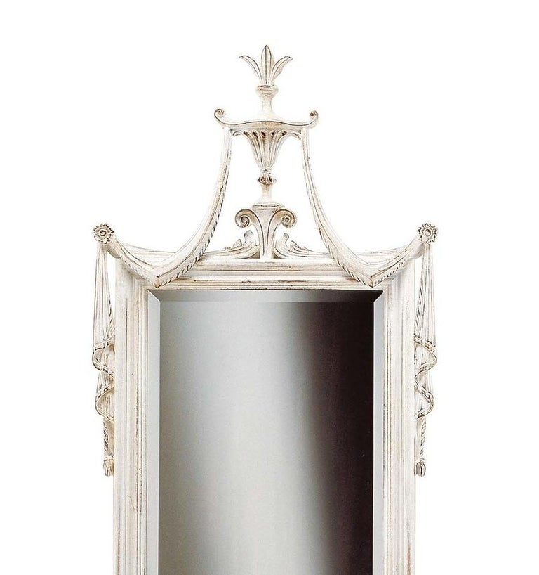 Louis XVI white wall mirror by Spini Firenze.