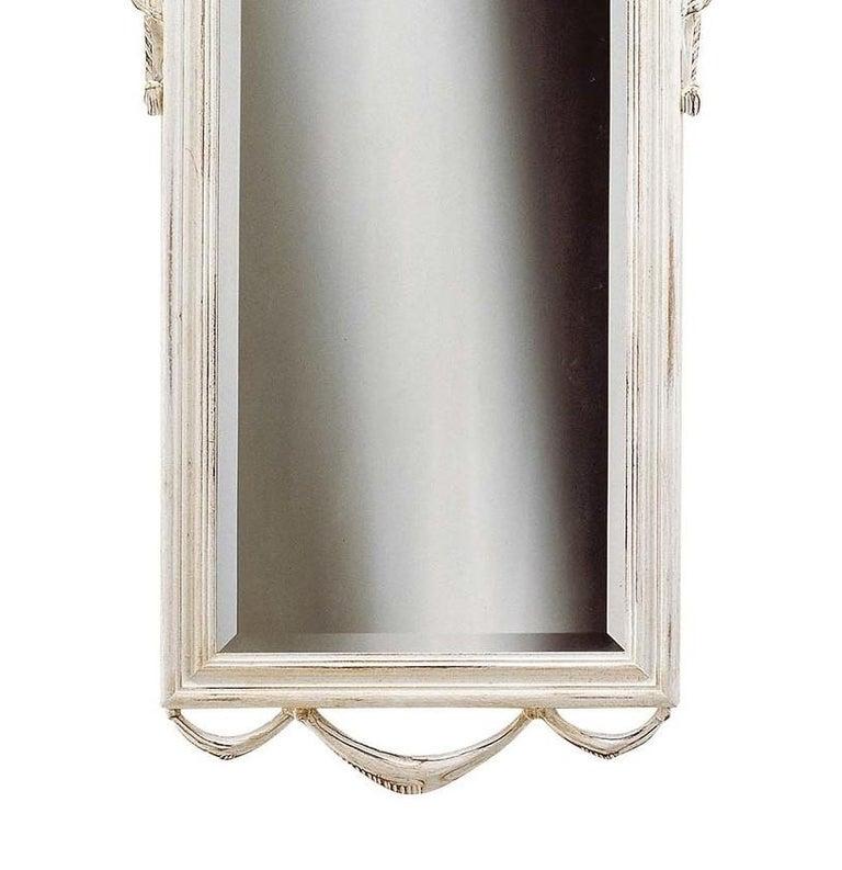 Italian Louis XVI White Wall Mirror by Spini Firenze