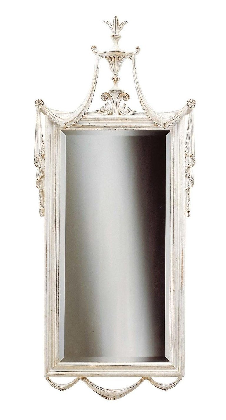 Louis XVI White Wall Mirror by Spini Firenze In New Condition In Milan, IT