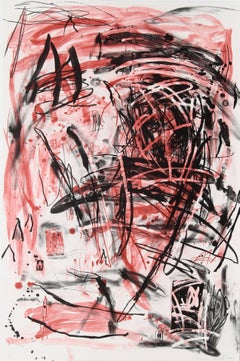 Mountain, Large Abstract Expressionist Lithograph by Louisa Chase