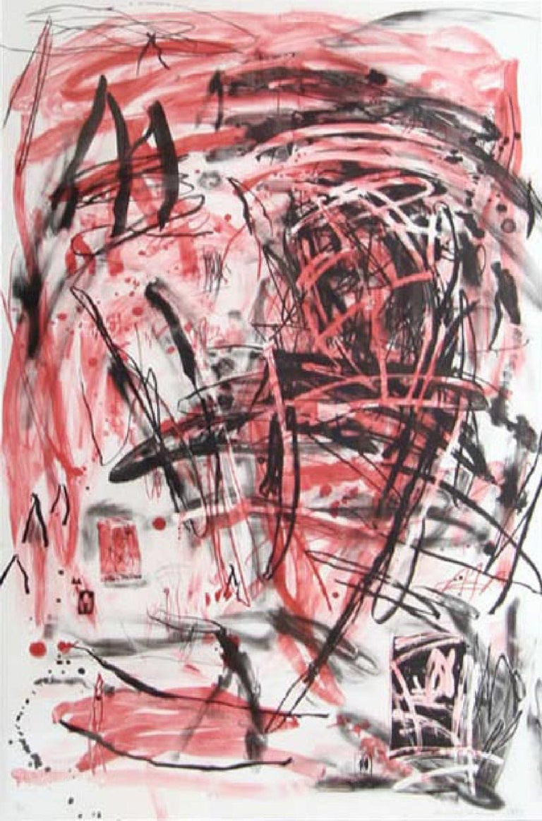 Louisa Chase Abstract Print - Red Mountain