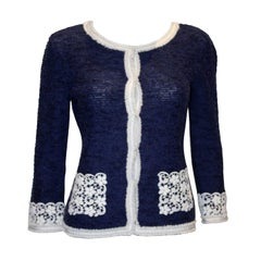 Louisa Spagnoli Blue and White Jacket