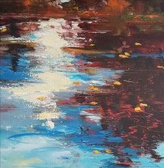 Autumn Pond, Painting, Acrylic on Canvas