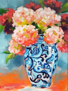 Hydrangeas, Painting, Acrylic on Canvas