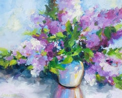 Lilacs, Painting, Acrylic on Canvas