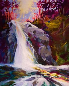The Waterfall, Painting, Acrylic on Canvas