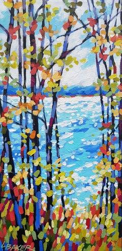 Through The Gap, Painting, Acrylic on Canvas