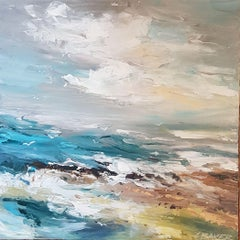 Wave Action, Painting, Acrylic on Canvas
