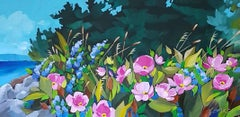 Wild Roses, Painting, Acrylic on Canvas