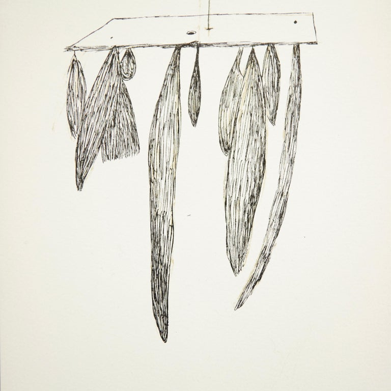 Lithography by Louise Bourgeois, circa 1980. Signed on the stone.  In good original condition.  Louise Joséphine Bourgeois 25 December 1911-31 May 2010 was a French-American artist. Although she is best known for her large-scale sculpture and