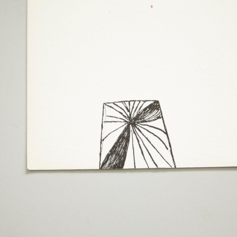 Mid-Century Modern Louise Bourgeois Lithography