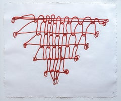 Crochet II: Red 3D Limited Edition Mixograph Print by Louise Bourgeois