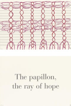 The Papillon, the Ray of Hope-- Lithograph, Text Art by Louise Bourgeois