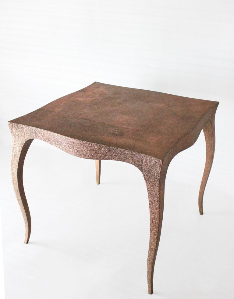 Other Louise Card Table in Hammered Copper Clad Over Teak by Paul Mathieu For Sale